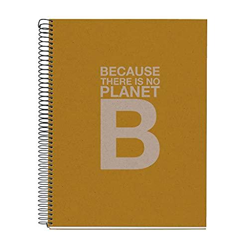 ECOALF powered by MIQUELRIUS - Cuaderno reciclado A4 cuadrícula 120 hojas cuadrícula - Mostaza