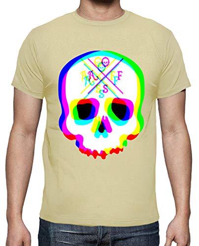 tostadora - T-Shirt 3D Schadel Af Tribut - Manner Creme M