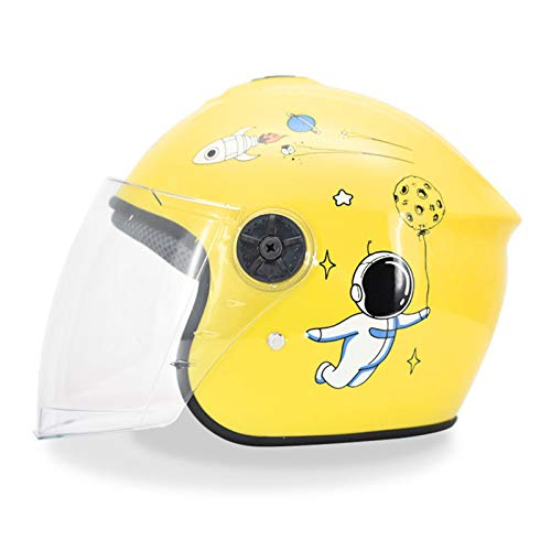 QZH Casco de Moto para niños, Lindo Casco de Bicicleta para niños...