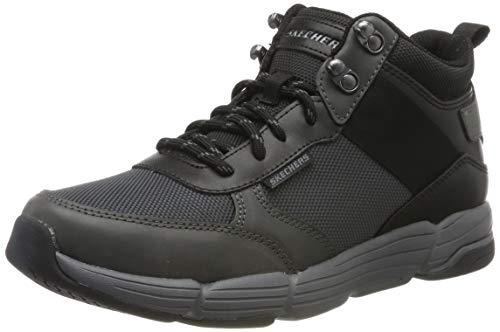 SKEAJ #Skechers Herren Metco Hohe Sneaker, (Black Charcoal Leather W/Mesh Bkcc), 6 EU
