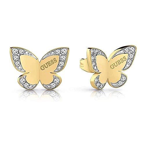 Pendientes Guess Love Butterfly acero inoxidable quirúrgico logo chapados oro UBE78011 [AC1127]