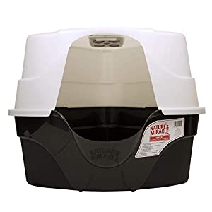 Nature's Miracle Advanced Hooded Corner Litter Box (P-5915),Black,1.0 count