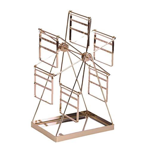 Einkaufstrolleys Schmuck-Rack Baum Schmuck Ständer Schmuckständer Riesenrad Desktop-Ohrring Schmuck-Rack Schmuck Anzeigen-Regal-Ohrring-Nagel-Speicherring Halskette Schmuck-Rack