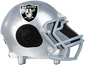 Nima Portable Bluetooth Speaker, Officially Licensed NFL Football Helmet Super Mini Wireless Stereo Speaker Built-in Mic, Hands-Free Calling, Loud HD Sound and Bass - Oakland Raiders