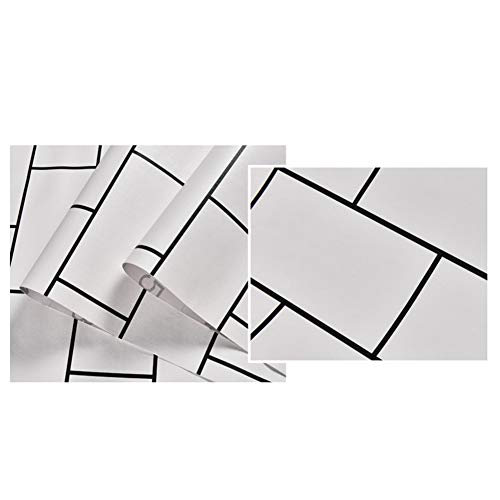 Keramikfliesen PVC wasserdichte Selbstklebende Tapete Klebefolie 10 * 0.6M Ziegelstein Muster wasserfest Tapete Dekorativ Peel Stick Wallpaper Wandbelag Wandaufkleber Rolle