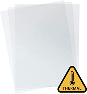 Heat-Resistant Clear Binding Covers - Ideal for Thermal Binding - Variety of Sizes - Binding Covers for Business Reports and Proposals - 100 Individual Sheets