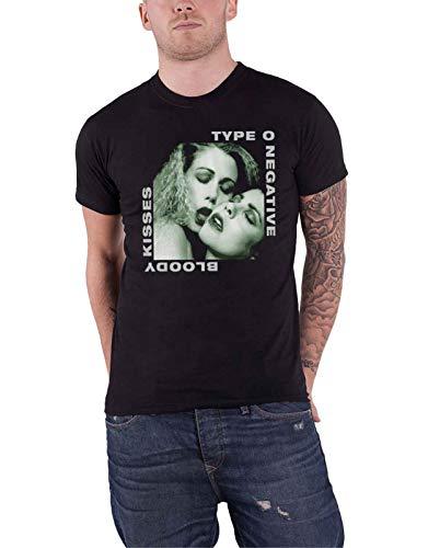 Type O Negative T Shirt Bloody Kisses Band Logo Nuevo Oficial De Los Hombres Size S