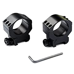"""6 screw Tactical scope rings is strong enough for mounting your rifle scope ,red dot , magnifiers and etc. Fit 21 mm standard picatinny rail Heavy duty Medium Profile Scope Mount ,30mm scope rings set 1"""" wide, 6 bolt screw set to secure scope, shock ..."""
