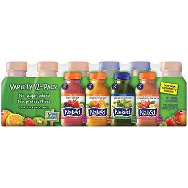 Naked Juice Variety Pack 10 oz. 12 NEW Trust 2 of pack ct.