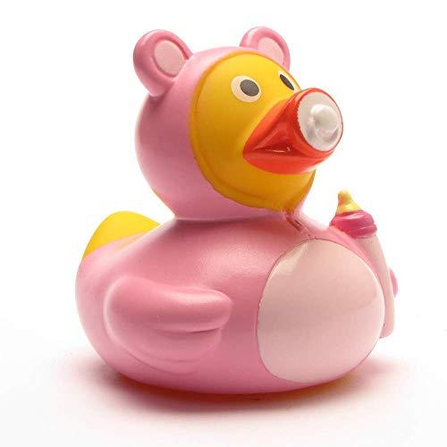 Quietsche-Ente Baby Mädchen Rosa Badespaß Gummiente Quitschente Badeente Badespielzeug