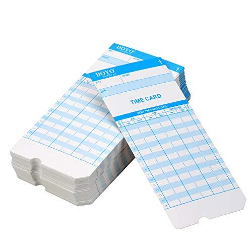 Aibecy Attendance Recorder Elektronische Tijd Klok LED Display Dubbele Kleuren Afdrukken met Ingebouwde Opslag Batterij 50 Tijd Kaarten 2 Toetsen 100pcs Time Card