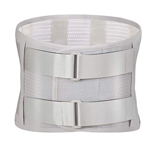 SYN-GUGAI Cinturón de Soporte Lumbar/Espalda Baja, presurización Doble, Soporte de Placa de Acero, Ligero y Transpirable, Adecuado para Hombres y Mujeres (Size : Medium)