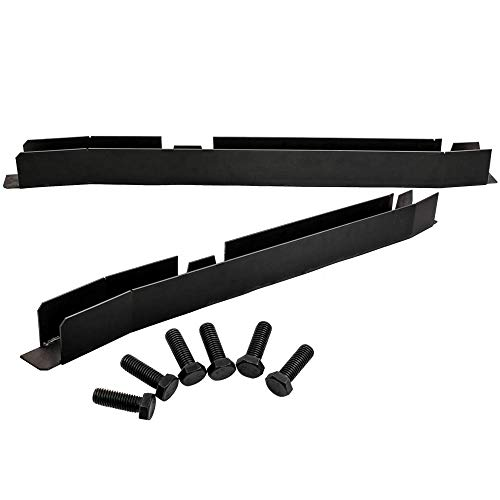 Center Skid Plates Frame Rust Repair Kits for Jeep Wrangler TJ 1997-2002 Left and Right Skid Repair with Bolts
