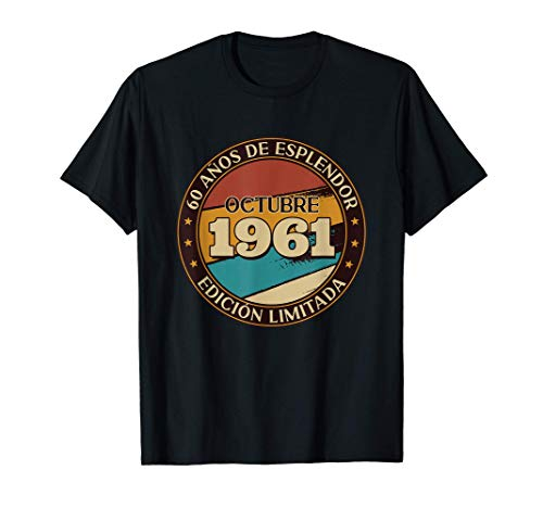 Regalo 60 Años Aniversario Humor Vintage Octubre 1961 Camiseta