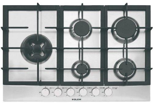 Plaque gaz Glem GT851HIX - Plaque de cuisson 5 foyers