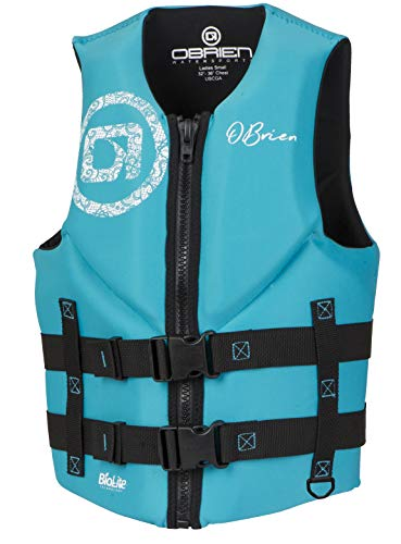 O'Brien Women's Traditional Neoprene Life Jacket, Aqua, Medium