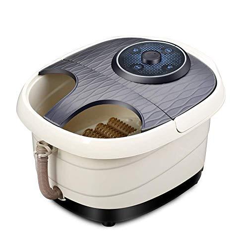 YXF Masajeador de pies Interruptor de pie Tina de autoservicio del pie del Masaje eléctrico climatizada Profundo cañón Negro Perilla, los Productos 42x32x35cm Cuidado de la Salud (Tamaño: 42x32x35cm)