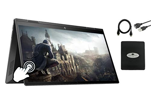 2020 Newest HP Envy x360 2in1 15.6' FHD Touch-Screen Flagship Laptop, AMD Ryzen 5 4500U Six-core(Beat i5-9300H, up to 4GHz), 16GB RAM, 1TB PCIe SSD, Backlit-KB, FP Reader, Win10, w/GM Accessories