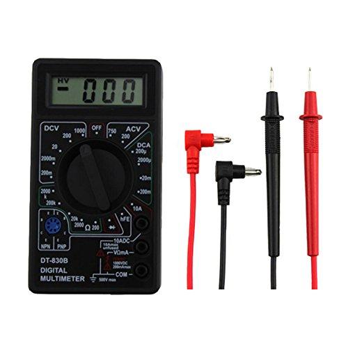 Multimetro digitale DT - 830B LCD Voltmetro Amperometro Controllo di continuità Frequenza diodo Condensatore Resistenza di misura Tensione del multimetro Tester