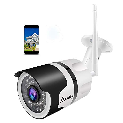 [Updated Version] Camhi APP Outdoor Security Camera 1080P Cloud WiFi Cam Wireless IP Waterproof IR Night Vision Home Security Surveillance System Accfly