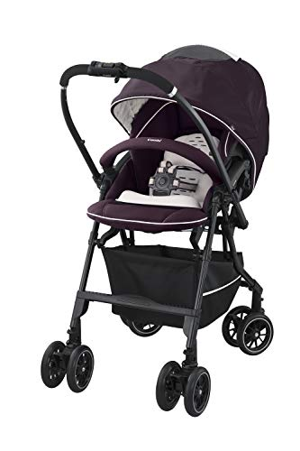 Combi Mechacal Dual Direction Stroller with Easy Fold Design | 170 Degree Full Seat Recline | Shock Absorbant Seat with Extended Canopy | Auto-Convert Wheels | Brown