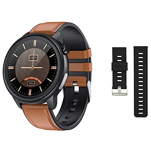 ZRY Relojes Inteligentes para Mujer y Hombres, IP68 Temperatura Impermeable Monitor de presión Arterial Monitor de Deportes Fitness Reloj Inteligente Larga batería Life para Android iOS,D