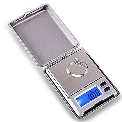 HUANGDA Balance de poche numérique, balance de cuisine de haute précision, balance à bijoux, écran LCD rétro-éclairé (500 G / 0,01 G)