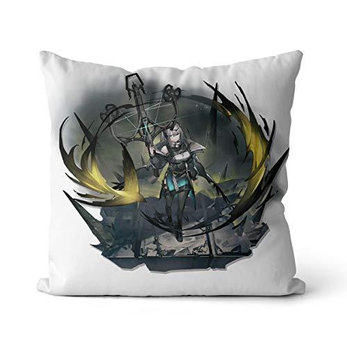 Arknights - Funda de almohada con diseño de garganta, color gris