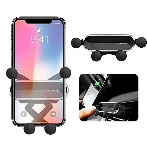 ORYCOOL BellFan Handyhalterung für Auto, Schwerkraft Auto Handyhalterung Air Vent Universal-Kfz-Handyhalter kompatibel für iPhone XS MAX/XS/XR, Galaxy S10/S10+ (für 4,7'' - 6,5'') (Silber)