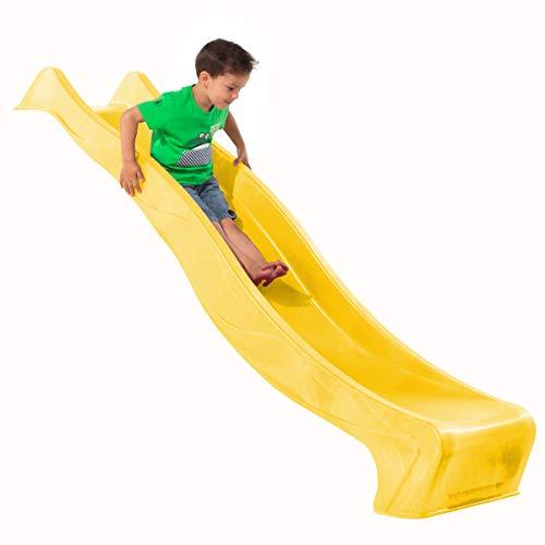 Demmelhuber Rutsche WATERSLIDE 2,30 m mit Wasseranschluss für Spielturm Wellenrutsche Gartenrutsche Kinderrutsche Anbaurutsche Wasserrutsche (Gelb)