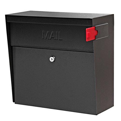 Mail Boss 7162 Metro, Black High Capacity Wall Mounted Locking Security Mailbox,Medium