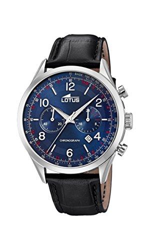 Lotus Watches Herren Chronograph Quarz Uhr mit Leder Armband 18557/2