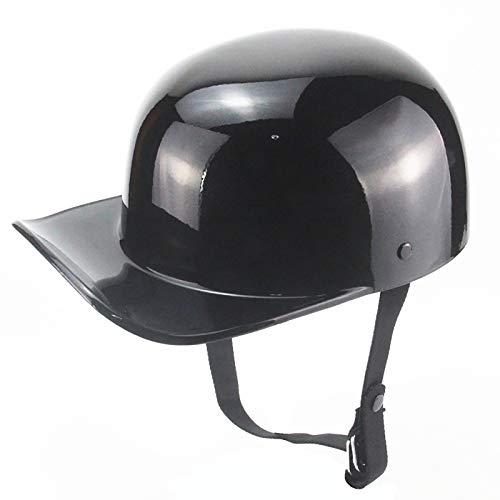 Casco de bicicleta de motocicleta Gorra de béisbol Visera solar Sombrero de protección solar anti-UV para hombres Mujeres Deporte Aprobado por DOT 1,XL=59-60CM