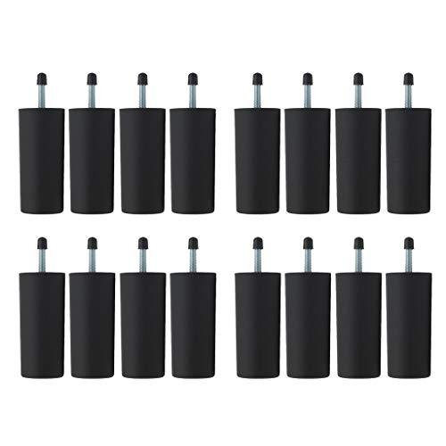 Amuzocity 16 Unids/Set Elevadores de Plegable para de Centro, Patas de Cama de 4 Pulgadas