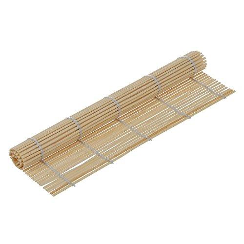 Sodial Stuoia da sushi giapponese, in bambù, rotolo, 23 x 24 cm
