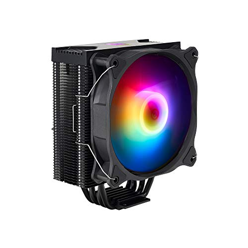 Noua Numb ADD-RGB CPU-Kühler 4 Heatpipes PWM Lüfter 120mm Addressable 5V 3-Pin kompatibel für CPU Intel 1200 1155 1151 1150 1366 und AMD AM4 AM3+ AM3 AM2+ AM2