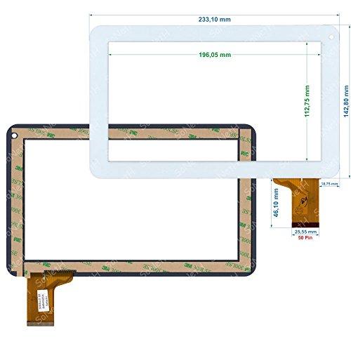 Soneth Vetro Touch Screen Digitizer 9,0' Nordmende ND-R928B Bianco