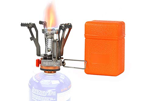 zoeson Outdoors Mini Camping Stove Ultralight Collapsible Stove Backpacking (1 Pack)