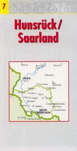 Fahrradkarte Radtourenkarte Radkarte Hunsrück / Saarland 1 : 150.000