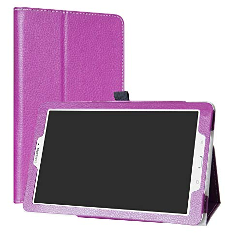 Mama Mouth Samsung Galaxy Tab E 9.6 Case, PU Leather Folio 2-folding Stand Cover with Stylus Holder for 9.6' Samsung Galaxy Tab E 9.6 T560 T561 Android Tablet,Purple