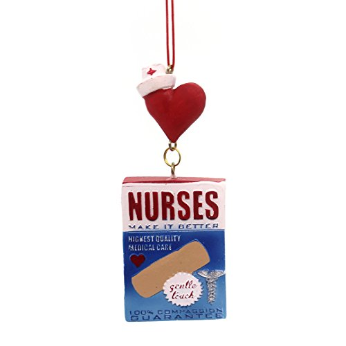 Kurt Adler Bandage Box 'Nurses' Hanging Christmas Ornament