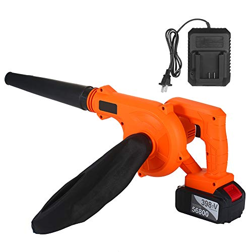 MIAOLEIE Leaf Dust Blower Cordless Leaf Blower Lightweight 2 in 1 Garden Blower And Vacuum & Shredder with Battery And Charger