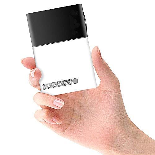 MUDEREK Proyector portátil del bolsillo LED, mini proyector multimedia, 600 lúmenes de la ayuda del proyector USB SD HDMI