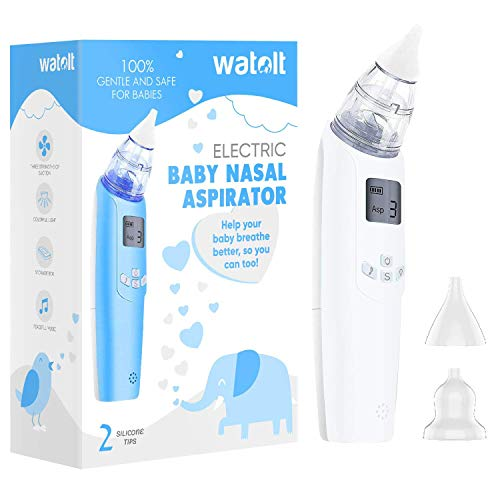 Watolt Baby Nasal Aspirator - Electric Nose Suction for Baby - Automatic Booger Sucker for Infants - Battery Powered Snot Sucker Mucus Remover for Kids Toddlers