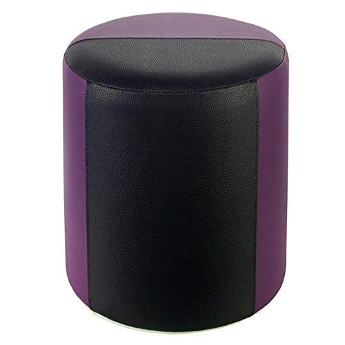 Tabouret bicolore mauve-noir - 34 x 44 cm