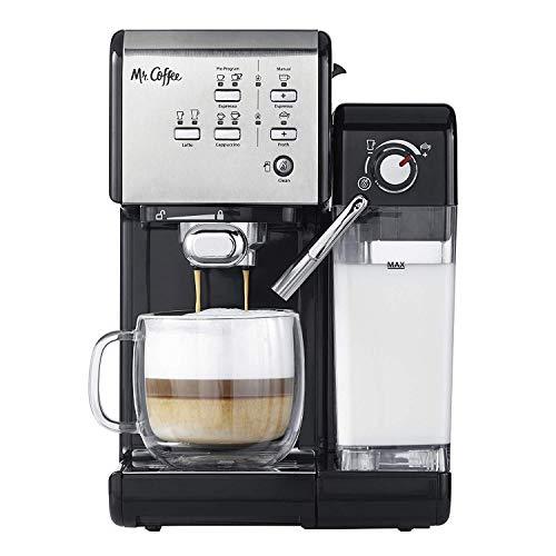 Mr. Coffee BVMC-EM7000DS Home Kitchen 1 Touch 19 Bar Pump Automatic Cappuccino, Latte, Espresso Maker Machine, Black