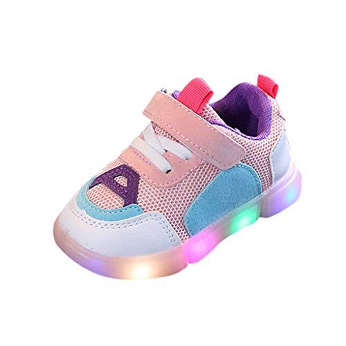 FELZ Zapatos Bebe Primeros Pasos Zapatos LED Unisex Calzado Deportivo Luces Zapatos Iluminados Antideslizante Zapatos Antideslizante Bebe Niña Suave Sandalias de Deporte Al Aire Libre