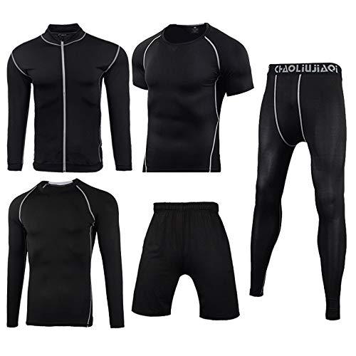 Men Sportswear Compression Sport Suits Quick Dry Running Sets Kleding Sports Joggers Training Gym Fitness Trainingspakken Running Set (Color : Men sportswear 5 8, Size : L)