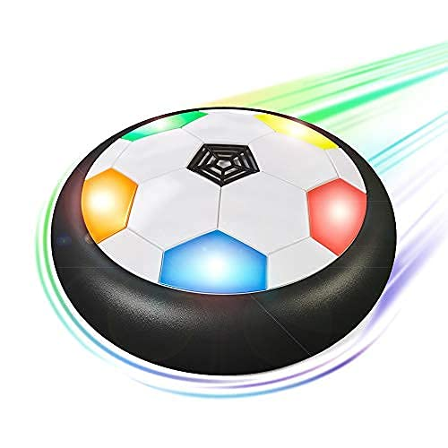 Hover Soccer Ball for Kids   Flashing Colored LED Lights   for Smooth Surfaces   New Football Toy,...