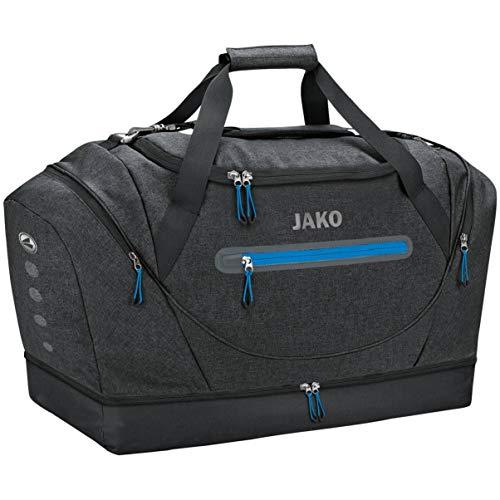 JAKO Unisex– Erwachsene Champ Sporttasche, schwarz meliert, Senior 65 x 29 x 40 cm